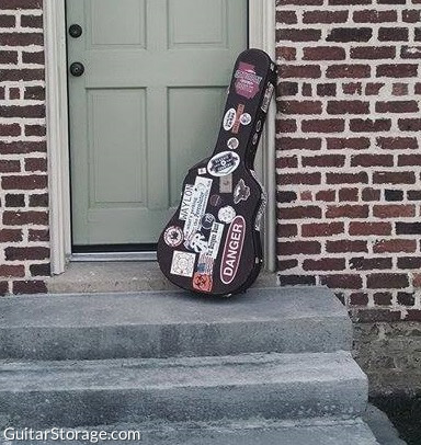 decorated guitar case
