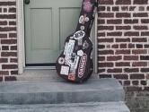 decorated guitar case