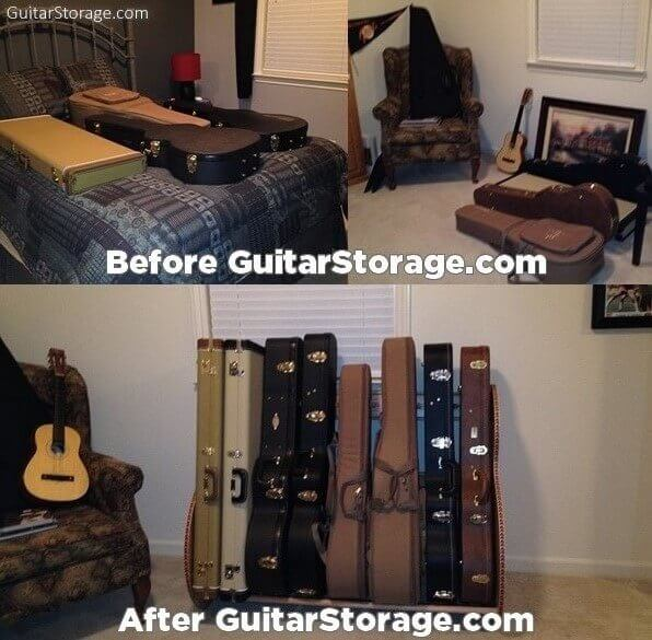 Spare Bedroom Guitar Storage