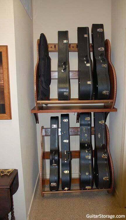 Filled Guitar Shelf
