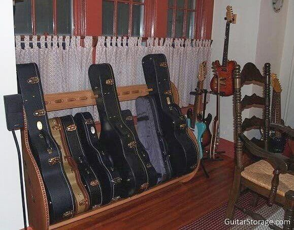 Custom Guitar Case Rack