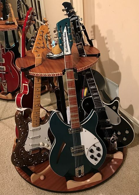 The Carousel Deluxe Rotating Multi Guitar Stand Guitar