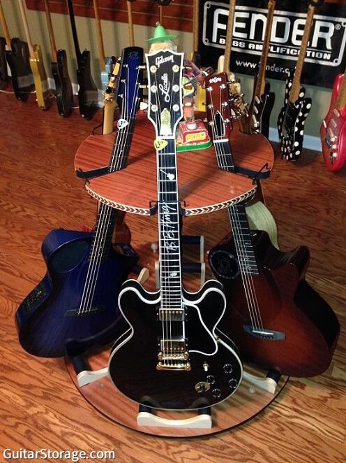 guitar storage in nashville music studio