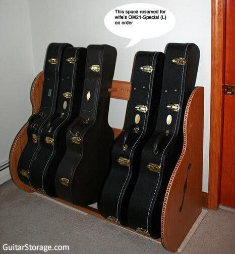 The Studio Deluxe Guitar Case Rack Guitar Storage