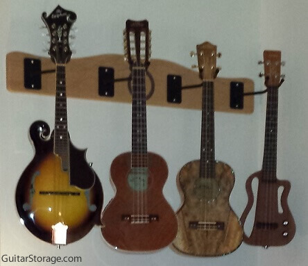 The Pro File Wall Mounted Ukulele Amp Mandolin Hanger