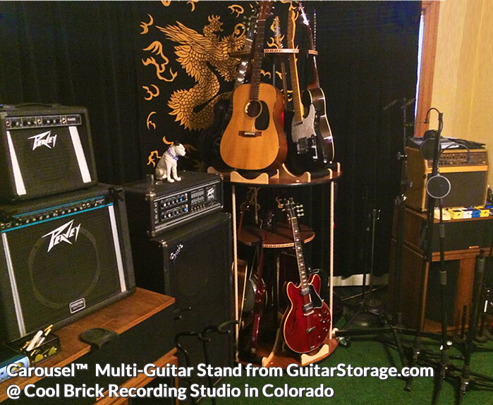 colorado studio with a multiple guitar stand