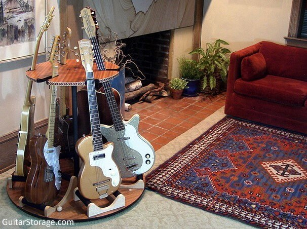 six guitar stand