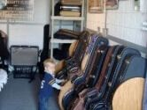 Our guitar case rack protects from children