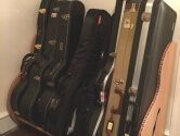 music room guitar organizer