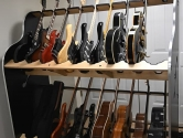 two tiered guitar shelf