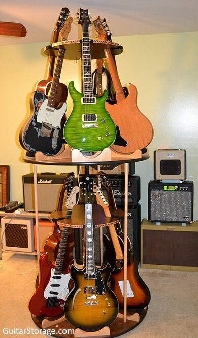 tiered guitar stand