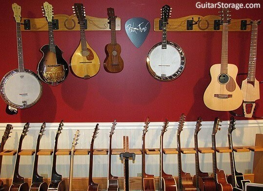 The Pro File Wall Mounted Multi Guitar Hanger Guitar Storage