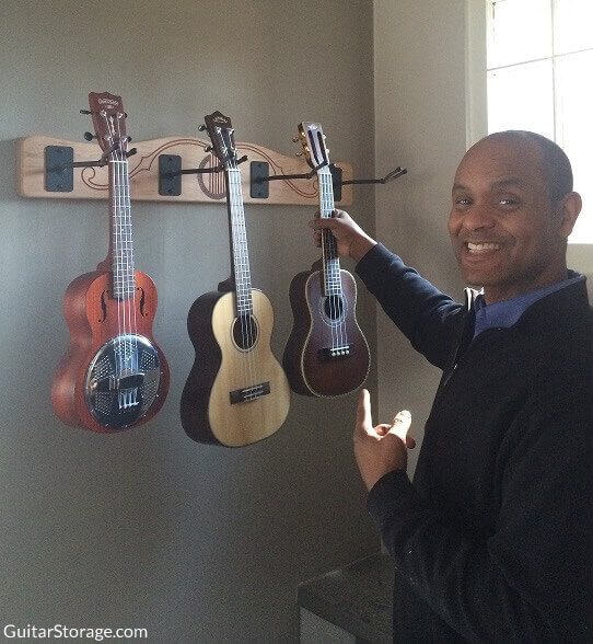 Ukulele Wall Rack