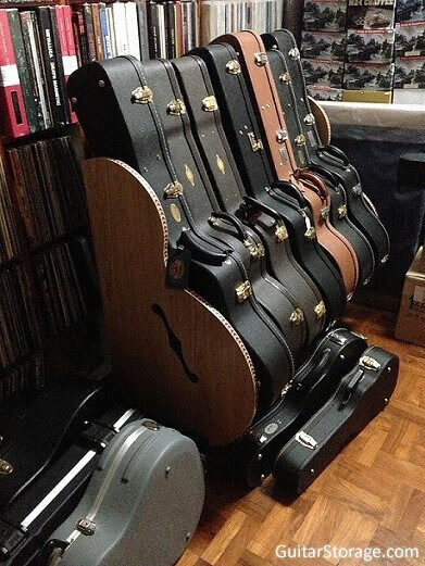Wood Guitar Case Rack
