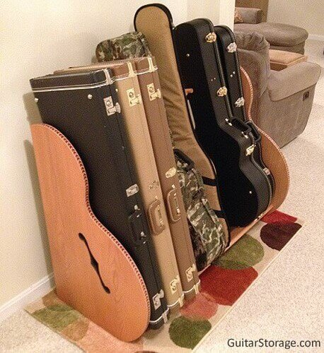 Wood Guitar Rack