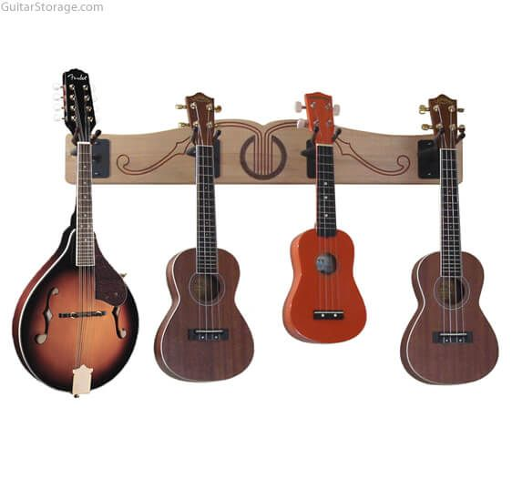 the pro file wall mounted ukulele mandolin hanger guitar storage. Black Bedroom Furniture Sets. Home Design Ideas