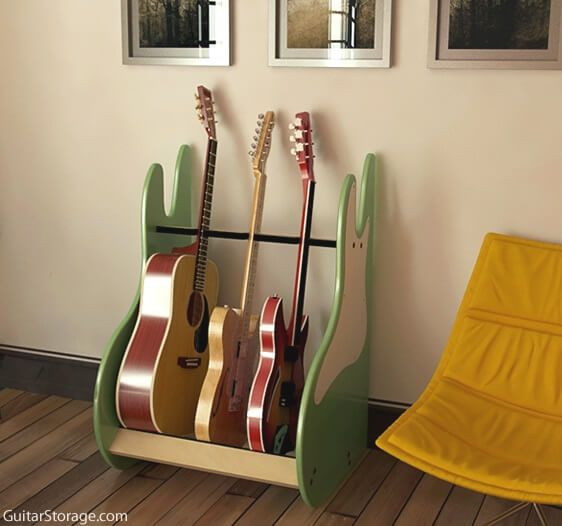 retrorack deluxe 3 guitar stand guitar storage. Black Bedroom Furniture Sets. Home Design Ideas