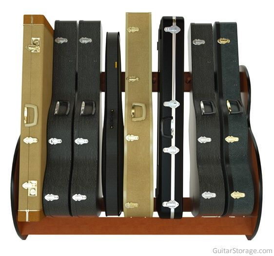 Acoustic and Electric Guitar Case Rack