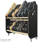 Session-Pro™ Double-Stack Mobile Guitar Case Rack
