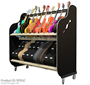 Session-Pro™ Double-Stack Mobile Guitar & Case Rack