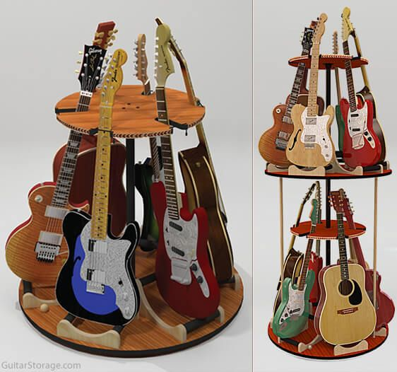 The Carousel Deluxe Rotating Multi Guitar Stand