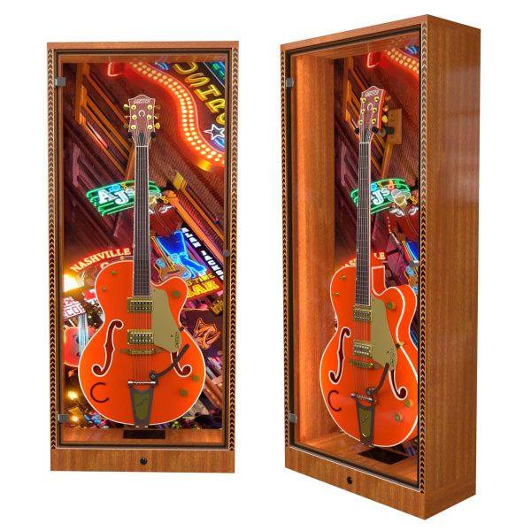 guitar cabinet with nashville backdrop