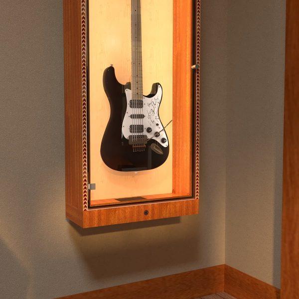 autographed guitar cabinet