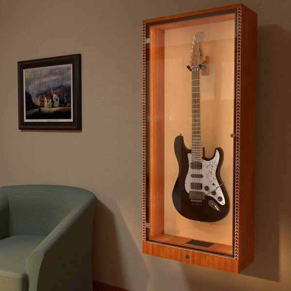 autographed guitar display case
