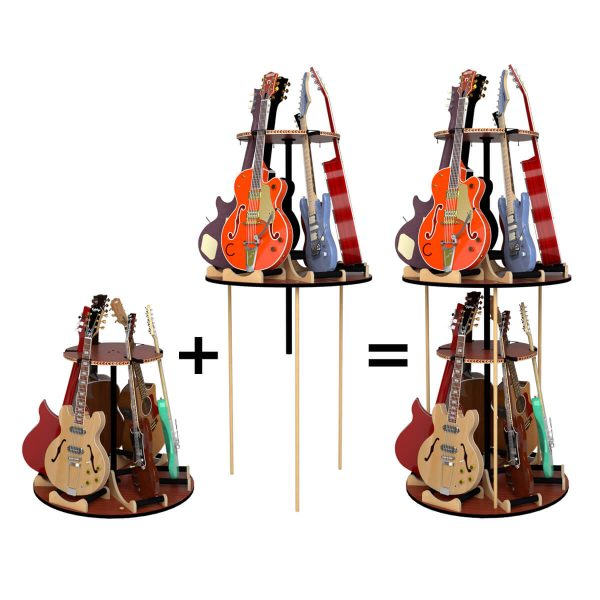 carousel combined guitar stand