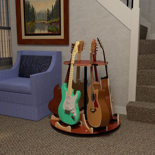 carousel guitar stand in living room