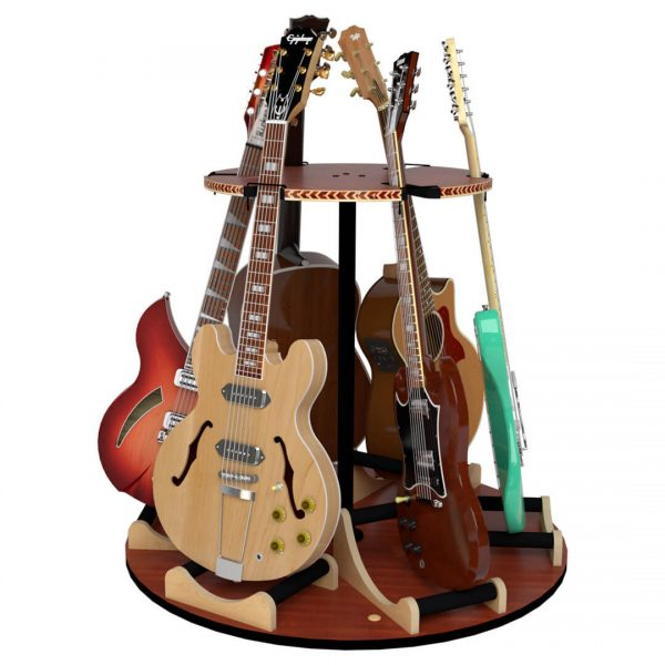 carousel rotating six guitar stand