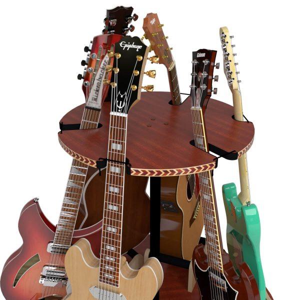 carousel stand holding guitar necks