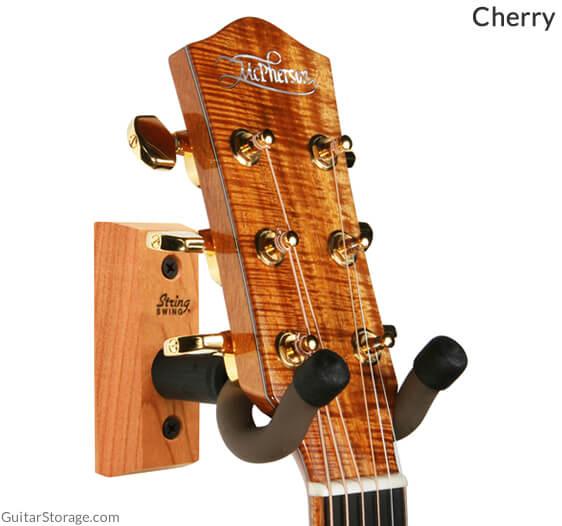 cherry wood guitar hanger