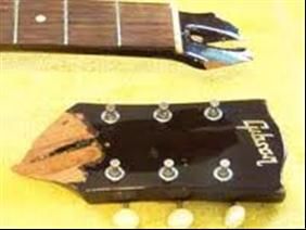 cracked gibson headstock and neck