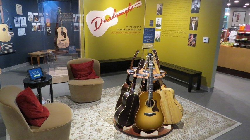 martin dreadnaught guitar exhibit