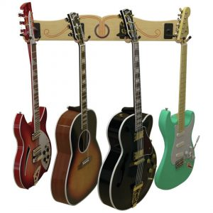 four guitar wall mount