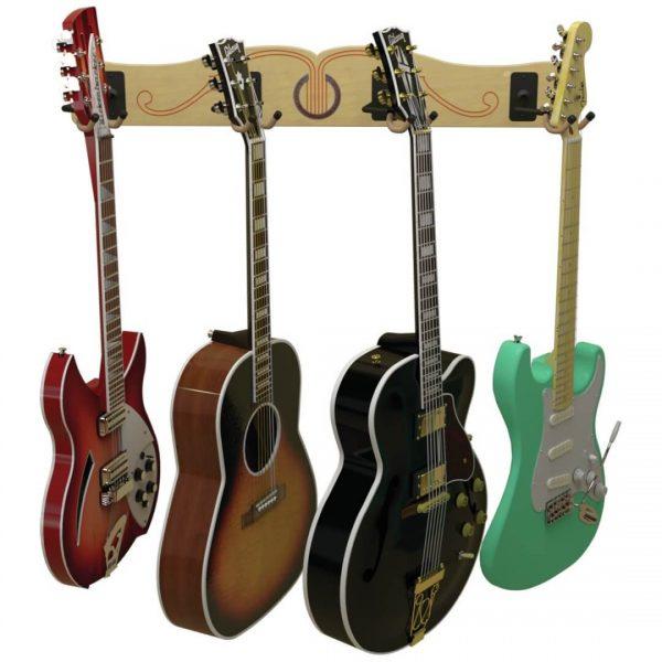 four guitar wall mount