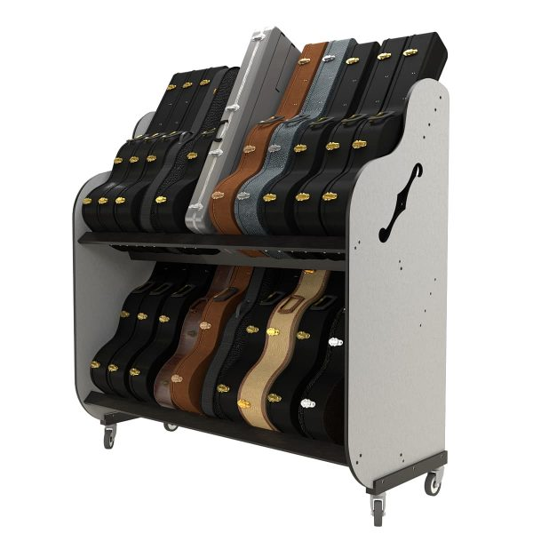 full guitar case storage shelves side view