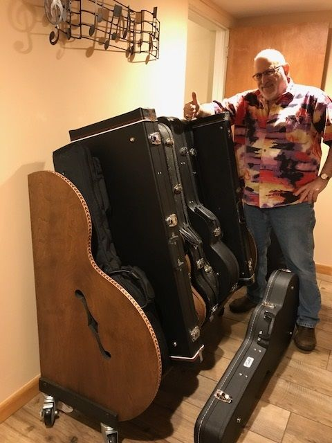 Some of Glenn's guitar collection