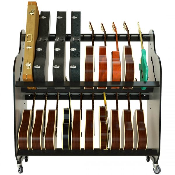 guitar and case storage shelf rack
