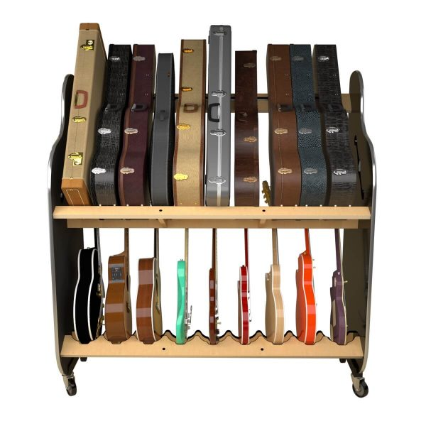 guitar and case storage shelves front