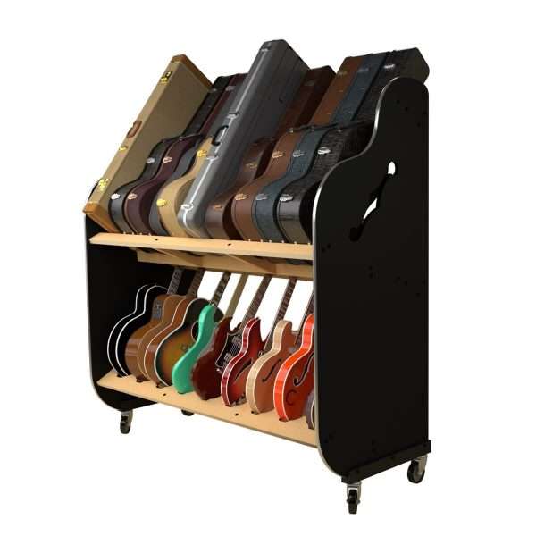 guitar and case storage shelves side