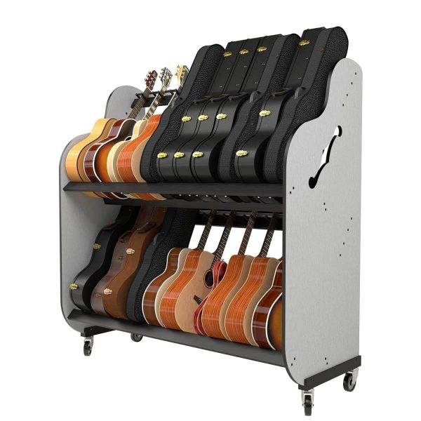 storage shelves for guitars and their cases