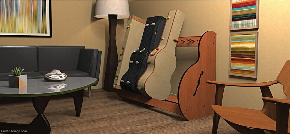 The Best Guitar Case Storage Racks For Acoustics