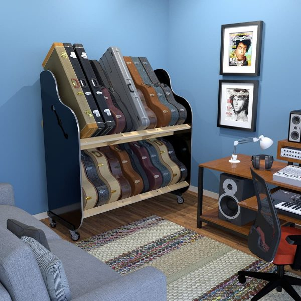 guitar collection storage for home studio