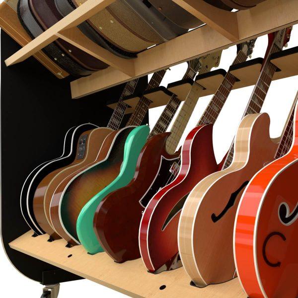 guitar shelves closeup