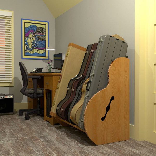 guitar storage rack for office