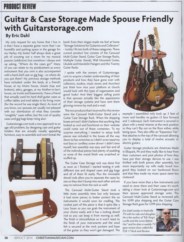 Guitar Storage review from Christian Music Magazine