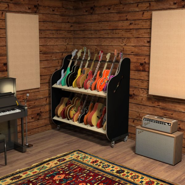 guitar storage shelf for music studio