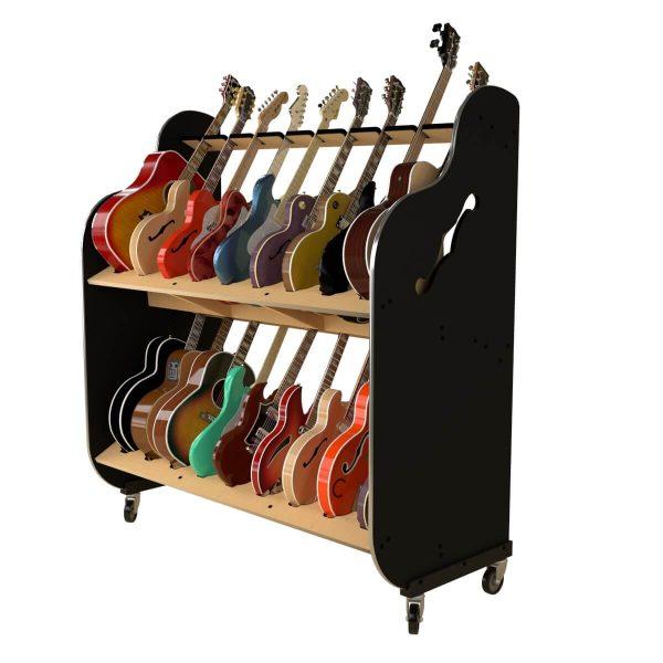 heavy duty guitar shelf system